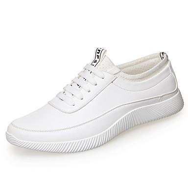 رجالي أحذية الراحة مجهرية ربيع & الصيف أحذية رياضية أبيض / أسود