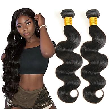 6 paketića Brazilska kosa Tijelo Wave Ljudska kosa Netretirana  ljudske kose Ljudske kose plete Styling kose Produžetak 8-28 inch Prirodna boja Isprepliće ljudske kose Nježno Svilenkast Moda