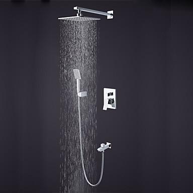 Zuhany csaptelep - Kortárs / Jó minőség Króm Fali Kerámiaszelep Bath Shower Mixer Taps / Bronz
