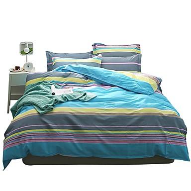 Set Copripiumino Stripes - Ripples 100% Cotone Con Stampe 4 Pezzibedding Sets #07044716 Alta Resilienza