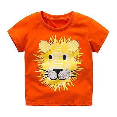 90e8589e1 Baby Boys' Basic Solid Colored Short Sleeve Tee Orange / Toddler
