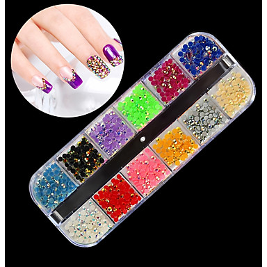 1 pcs Univerzális / Noviteti Plastika Nakit za nokte Rhinestones Za Prst noktiju Klasični Tema Kreativan nail art Manikura Pedikura Dnevno / Festival Korejski / Moda