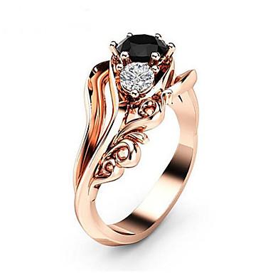 Žene Prsten Kubični Zirconia 1pc Rose Gold mesing Geometric Shape dame Moda Dnevno Večer stranka Jewelry Klasičan Flower Shape Lijep