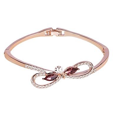 abordables Bracelet-Bracelet Jonc Femme Classique Elégant simple Bracelet Bijoux Argent Or Rose pour Cadeau Quotidien