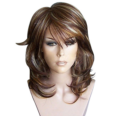 Synthetic Wig Women S Curly Burgundy Layered Haircut Synthetic Hair