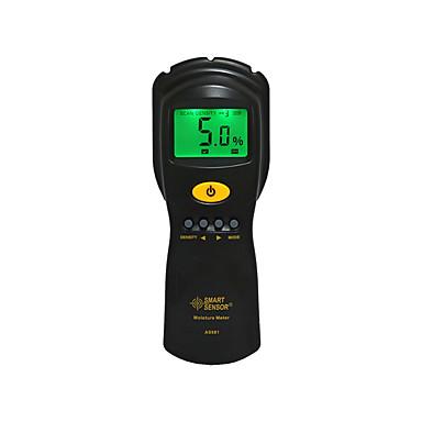 voordelige Test-, meet- & inspectieapparatuur-slimme sensor as981 digitale houtvochtigheidsmeter hygrometer vochtmeter multiplex houten materialen lcd achtergrondverlichting vochtdetector