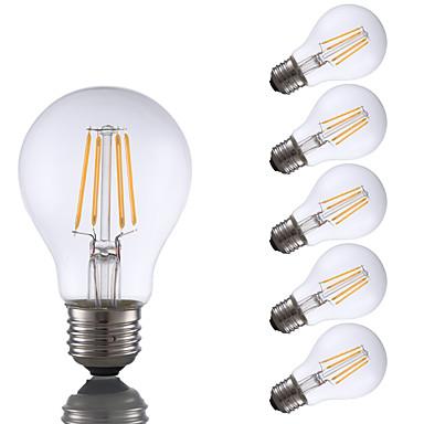billige Elpærer-6 stk gmy a19 led edison pære 4w led filament lyspære ekvivalent 32w med e26 base 2700k for soverom stue hjem dekorative