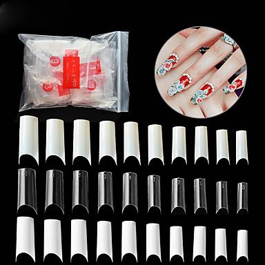 voordelige Nagelgereedschap & Apparatuur-500stuks PVC Tips voor kunstmatige nagels Voor Vingernagel Beste kwaliteit Romantische serie Nagel kunst Manicure pedicure Stijlvol / Uniek ontwerp Dagelijks