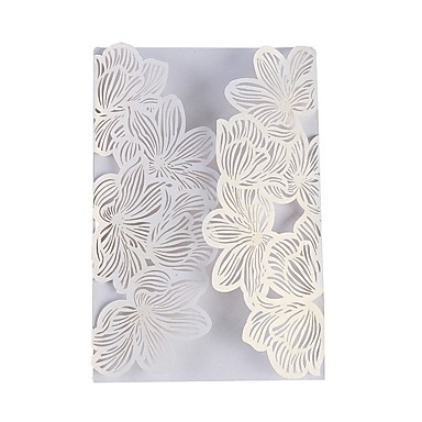 Wedding Invition Cards.Side Fold Wedding Invitations 20 Invitation Cards Artistic Style Pure Paper