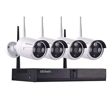 Χαμηλού Κόστους Ηλεκτρονικά είδη καταναλωτή-8ch 1080p nvr και 4pcs 960p ασύρματο σύστημα ασφάλειας βίντεο 1.3mp (ασύρματο nvr kits) ανοιχτό 600m