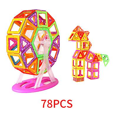 Blocs Magnétiques Carreaux magnétiques 78 pcs Motif géométrique Tous Garçon Fille Jouet Cadeau