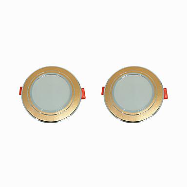 2pcs 5 W 360 lm 10 LED-pärlor Enkel att installera Infälld LED-downlight Varmvit Kallvit 220-240 V Hem / kontor Vardagsrum / matrum