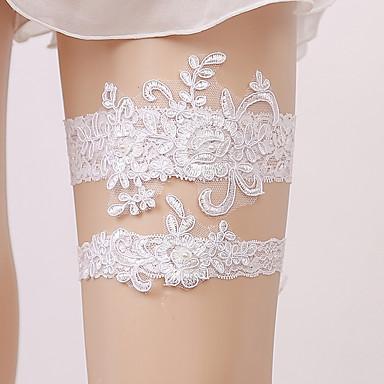 Encaje Nupcial Liga de la boda Con Apliques / Detalles con Perlas Ligas Boda / Fiesta