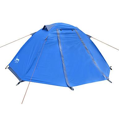 رخيصةأون مفارش و خيم و كانوبي-DesertFox® 1 شخص خيمة الكاميرا في الهواء الطلق مقاوم للماء مكتشف الأمطار خفيف جدا (UL) طبقات مزدوجة خيمة التخييم 2000-3000 mm إلى تخييم أكسفورد