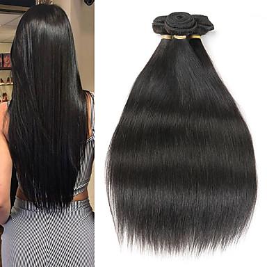 3 pacotes Cabelo Brasileiro Liso Cabelo Natural Remy Extensões de Cabelo Natural 8-22 polegada Tramas de cabelo humano Macio Melhor qualidade Nova chegada Extensões de cabelo humano Mulheres