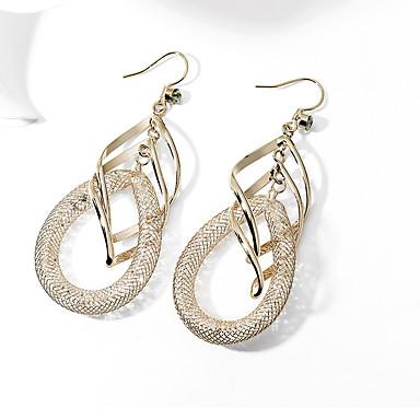 voordelige Dames Sieraden-Dames Druppel oorbellen Luxe Verguld Gesimuleerde diamant oorbellen Sieraden Goud Voor Bruiloft Feest Avond Feest 1 paar