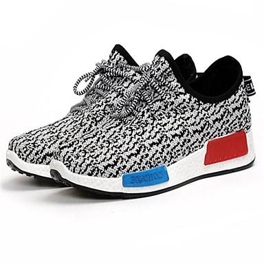 Homens Sapatos Confortáveis Com Transparência Primavera Verão Tênis Corrida Botas Curtas / Ankle Vermelho / Azul / Branco / Preto