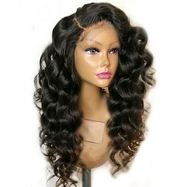 128993cea0d billige Parykker & hair extensions-Syntetisk Lace Front Parykker Bølget  / Løst, bølget