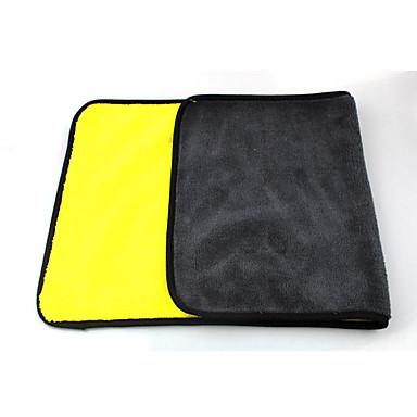 abordables Herramientas de Limpieza para Coche-Doble color de microfibra lavado de coches toalla limpieza limpieza secado paño dobladillo absorbente fuerte
