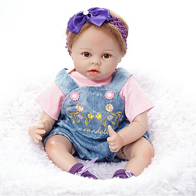 FeelWind בובה מחדש בובת נערה תינוקות בנות 22 אִינְטשׁ סיליקון ויניל - כְּמוֹ בַּחַיִים עבודת יד חמוד ילדים / נוער לא רעיל הילד של יוניסקס צעצועים מתנות