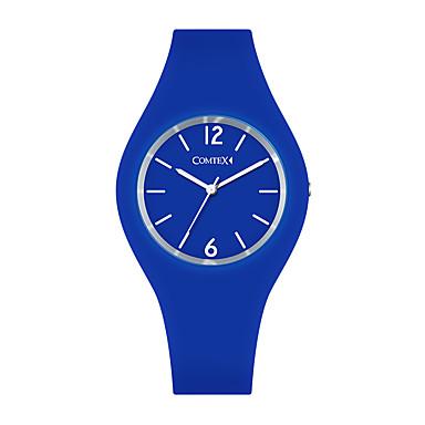 baratos Relógios Homem-COMTEX Casal Relógio Esportivo Quartzo Silicone Preta / Azul / Vermelho 30 m Impermeável Noctilucente Analógico Casual - Azul Vermelho Escuro Preto / cinza Dois anos Ciclo de Vida da Bateria