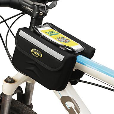 billige Sykkelvesker-B-SOUL 1 L Mobilveske Vesker til sykkelramme Berøringsskjerm Bærbar Anvendelig Sykkelveske Terylene Sykkelveske Sykkelveske Sykling / iPhone X / iPhone XR Utendørs Trening Sykkel