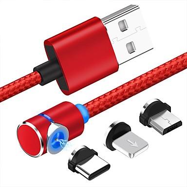 micro-USB / Verlichting / Type-C Kabel 1m-1.99m / 3ft-6ft 1 tot 3 Kunststoffen / Aluminium USB kabeladapter Voor Samsung / Huawei / Xiaomi