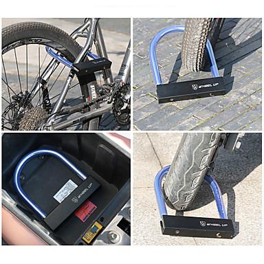billige Sykkeltilbehør-Wheel up U-lås Bærbar Slitasje-sikker Sikkerhet Til Vei Sykkel Fjellsykkel Sykling Metall Svart