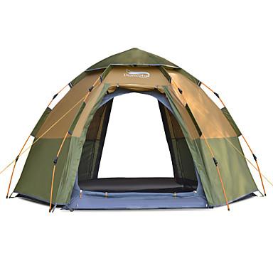 DesertFox® 8 أشخاص أوتوماتيكي الخيمة في الهواء الطلق خفة الوزن ضد الهواء مكتشف الأمطار طبقات مزدوجة أوتوماتيكي خيمة التخييم >3000 mm إلى شاطئ Camping / Hiking / Caving تنزه تول قماش اكسفورد