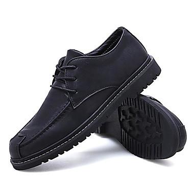 Homens Sapatos de couro Couro Primavera Verão Mocassins e Slip-Ons Caminhada Botas Curtas / Ankle Preto / Marron / Khaki