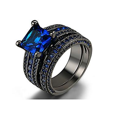 voordelige Herensieraden-Heren Ring Set Zirkonia 1 set Donkerblauw Legering Cirkelvorm Bohémien Casual / Sporty Bruiloft Verloving Sieraden mismatched Lucky Cool