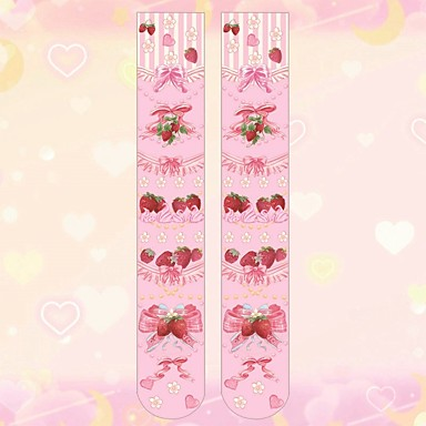 98731bd850f Cosplay Women s Adults  Princess Lolita Tights Girly Socks   Long Stockings  Thigh High Socks White
