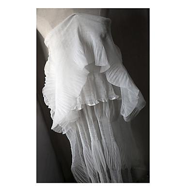 Tulle Tinta Unita Ricamato 150 Cm Larghezza Tessuto Per Nuziale Venduto Dal Metro #07204483
