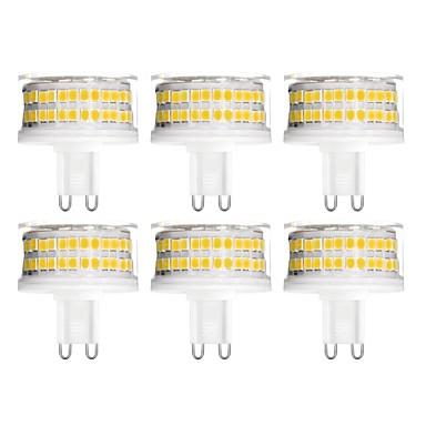 abordables Ampoules électriques-YWXLIGHT® 6pcs 9 W LED à Double Broches 900 lm G9 T 88 Perles LED SMD 2835 Intensité Réglable Blanc Chaud Blanc Froid Blanc Naturel 200-240 V