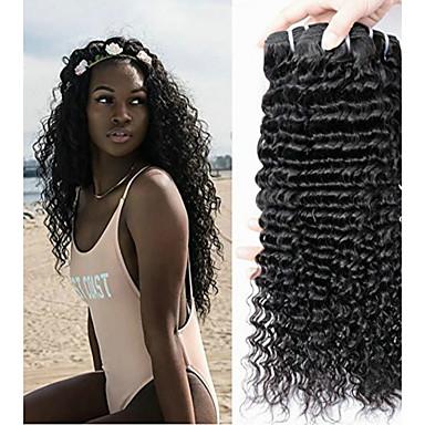 voordelige Weaves van echt haar-6 bundels Braziliaans haar Diepe Golf Onbehandeld haar Menselijk haar weeft Bundle Hair Een Pack Solution 8-28 inch(es) Natuurlijke Kleur Menselijk haar weeft Modieus Design Zacht Cool Extensions van