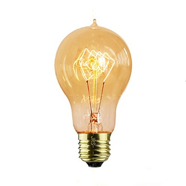 1pc 40 W E26 / E27 Gelb Transparent Körper Glühbirne Vintage Edison Glühbirne 220-240 V