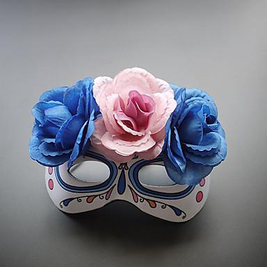 abordables Coiffes-Dentelle Les masques avec Fleur 1 Pièce Usage quotidien Casque
