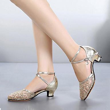 225b2d29a Mujer Zapatos de Baile Moderno Cuero Sintético   Malla Tacones Alto Talón  grueso Personalizables Zapatos de
