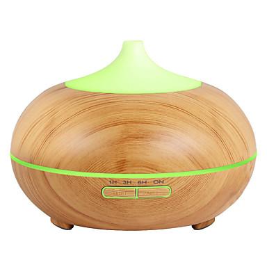 رخيصةأون أجهزة منزلية ذكية-آلة الروائح InnoGear 500ml Aromatherapy Essential Oil Diffuser Wood Grain Aroma Diffusers Cool Mist Humidmifier with Timer Adjustable Mist 7 Color Changing Night Lights Waterless... PP ذهبي