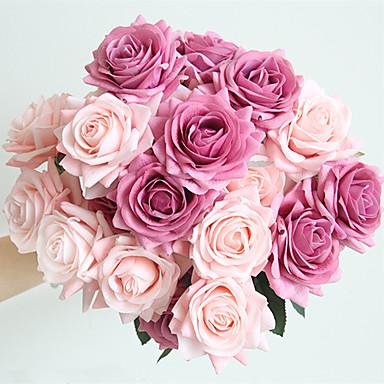 Dinamico Fiori Artificiali 5 Ramo Classico Matrimonio Europeo Rose Fiori Da Tavolo #07155483