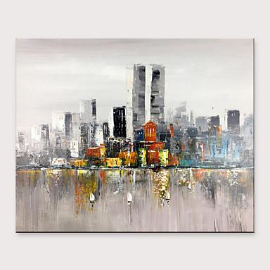 Hang-Painted öljymaalaus Maalattu - Abstrakti Maisema Klassinen Moderni Ilman Inner Frame / Valssatut kankaat