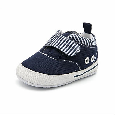 voordelige Babyschoenentjes-Jongens Eerste schoentjes Katoen Sneakers Peuter (9m-4ys) Wit / Blauw Lente