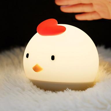 1PC الصمام ليلة الخفيفة / الحضانة ضوء الليل أبيض دافئ USB جميل / إبداعي <=36 V