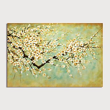 Hang-Painted öljymaalaus Maalattu - Kukkakuvio / Kasvitiede Moderni Sisällytä Inner Frame / Venytetty kangas