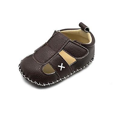 voordelige Babyschoenentjes-Jongens Eerste schoentjes PU Sandalen Peuter (9m-4ys) Wit / Zwart / Koffie Lente zomer