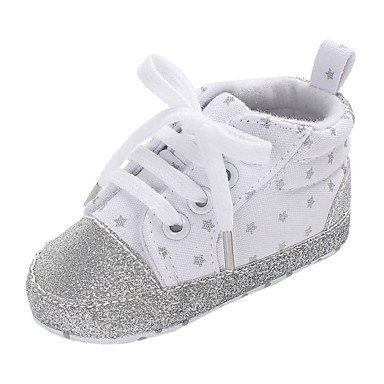 voordelige Babyschoenentjes-Jongens / Meisjes Comfortabel / Eerste schoentjes Canvas Sneakers Peuter (9m-4ys) Wit / Zwart / Blauw Herfst
