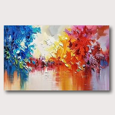 povoljno Ulja na platnu-Hang oslikana uljanim bojama Ručno oslikana - Sažetak Comtemporary Moderna Uključi Unutarnji okvir