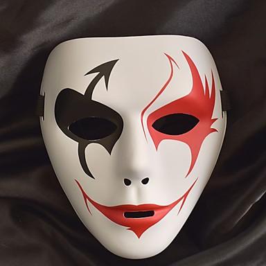 Melbourne Shuffle Dance Valkoinen naamio Aikuisten Miesten Halloween Halloween Masquerade Festivaali / loma Muovit Rubiini / Harmaa / Kristalli Karnevaalipuvut Color Block