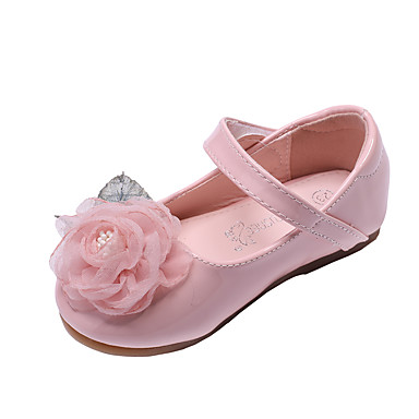 62ac364d6be6 Girls  Shoes PU(Polyurethane) Spring   Fall Comfort   Flower Girl Shoes  Flats Flower for Kids   Toddler White   Light Pink   Party   Evening