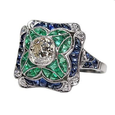 baratos Anéis-Mulheres Verde Artesão Anel de noivado anel de polegar Liga Anéis Jóias Verde Claro Para Aniversário Presente Diário 5 / 6 / 7 / 8 / 9